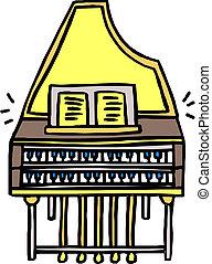 鋼琴, 矢量