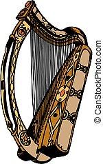 vetorial, harpa