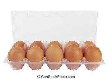 huevos, plástico