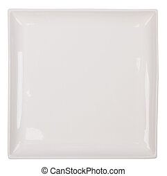 White plate - Empty plate isolated on a white background
