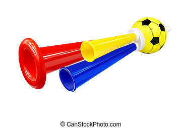 Colorful whistle soccer fan