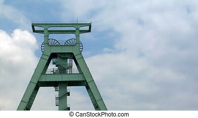 coal shaft tower time lapse - 10702 A time lapse over a coal...