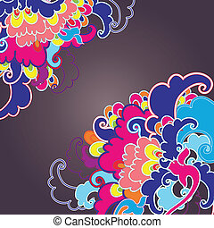 Abstract decoration, invitation card with ornate detailed ornament.