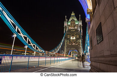 London Tower Bridge - Tower Bridge is a combined bascule and...