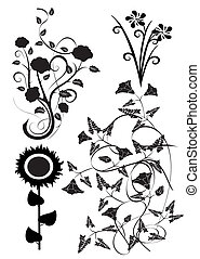 Vector design of flowers 5