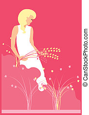 WOMAN IN NATURE 2 - Is an illustration in EPS file