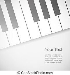 music background - vector music background with paper piano...