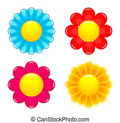 Flowers heads. Vector illustration
