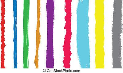 Coloured paint strokes converted to vector - Coloured paint...