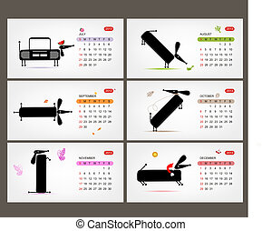 Vector calendar 2013. Funny dogs for each month