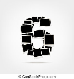 Number six made from photo frames, insert your photos - This...