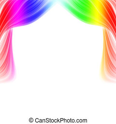 Abstract curtains - Abstract illustration colored curtains...
