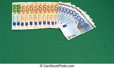 Euro Money - 10368 Euro Money moving Timelapse HD