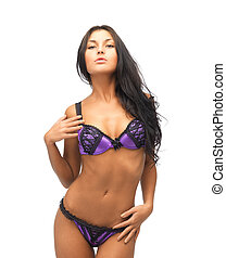 seductive woman in sexy lingerie - picture of seductive...