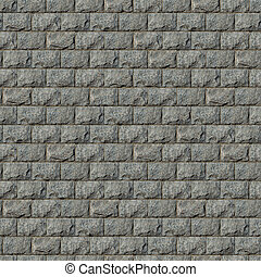 Seamless Texture of Wall from Granite Blocks - Seamless...