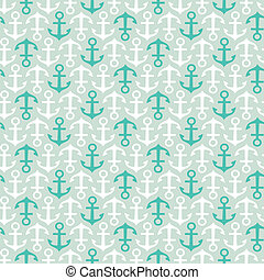 Anchor pattern - Seamless stylish pattern with anchors...