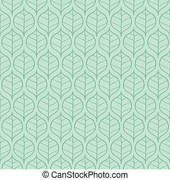 Leaf pattern - Stylish fresh spring leaf background Seamless...
