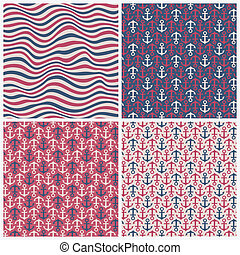 Summer patterns - Set of seamless stylish summer patterns....