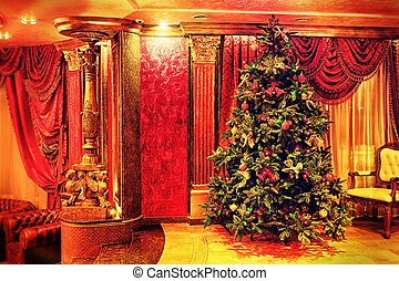 beautiful tree - Photo of a luxurious interior.