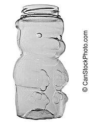 Empty honey holder - Empty plastic bear shaped honey holder...
