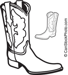 Boot - This is a vector graphic of a cowboy boot