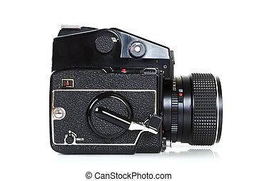 Retro professional medium format camera.