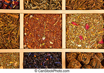 Tea variation - Luxurious and delicious tea collection in...