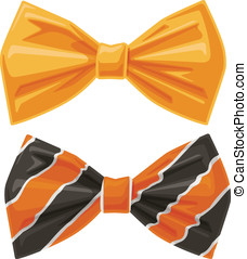 Bow Ties - This is an illustration of two vector cartoon...