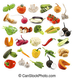 vegetables - different vegetables isolated on white
