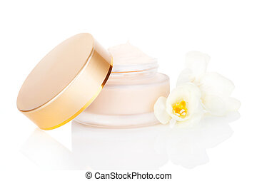 Luxurious cream. Cosmetics. - Luxurious cosmetic background....