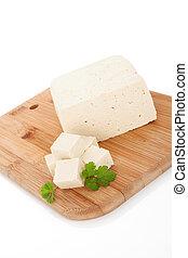 Tofu background - Delicious tofu background Tofu with fresh...
