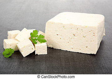 Tofu background - Luxurious tofu background Tofu piece,...