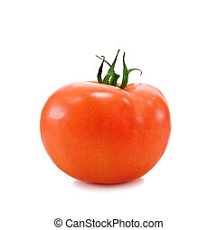 tomato - single tomato isolated on white