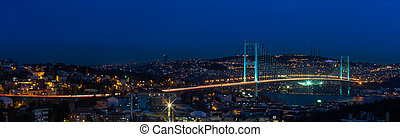 Bosporus Bridge - night at Bosporus Bridge istanbul Turkey