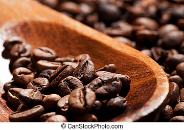 Coffee beans Dark brown coffee background