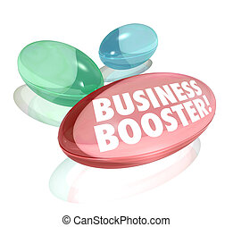 Business Booster Vitamins Increase Sales Success - The words...