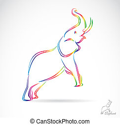 Vector image of an elephant , illustration - vector