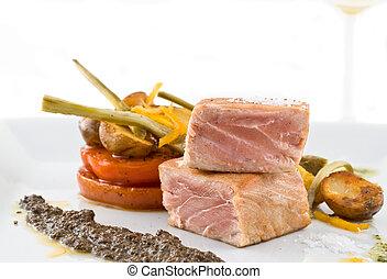 gourmet tuna dish.