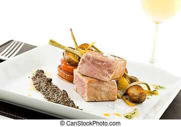 gourmet tuna dish