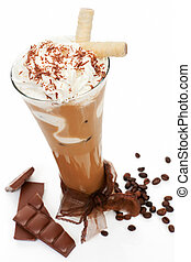 Ice coffee - Luxurious delicious iced coffee with foam with...