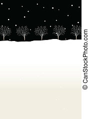 Trees in winter - This illustration is a common cityscape.