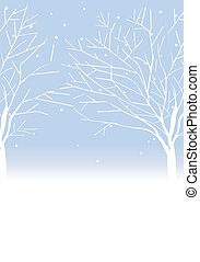 Trees in winter - This illustration is a common cityscape