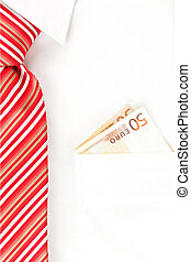 Business. - Businessman with white dress shirt and red tie...