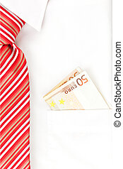 Business - Businessman with white dress shirt and red tie...