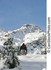 backcountry - a friend and companion hike along a...