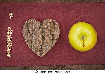 nós, Amor, maçã