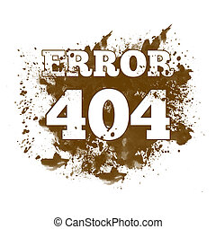404 Not Found - Spatter - Image of 404 not found with...