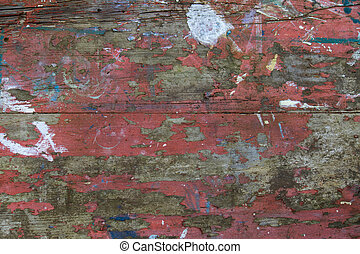 Distressed Table Top - Weathered distressed painted table...