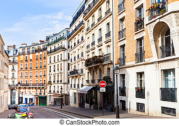 street on Montmartre, Paris - Rue Lepic is an ancient road...