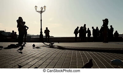 Urban Scene - People On Embankment Sevastopol